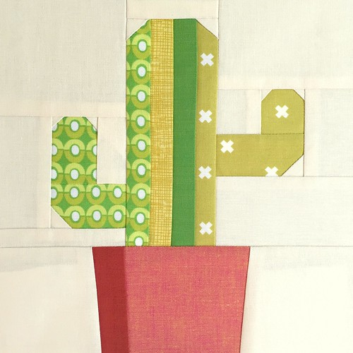 Saguaro Paper Piece Pattern