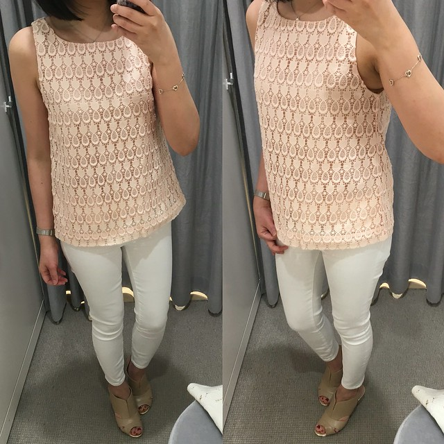 Ann Taylor Pineapple Lace Top