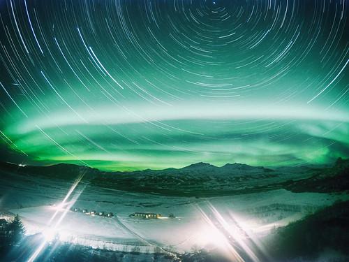 Startrails and aurora