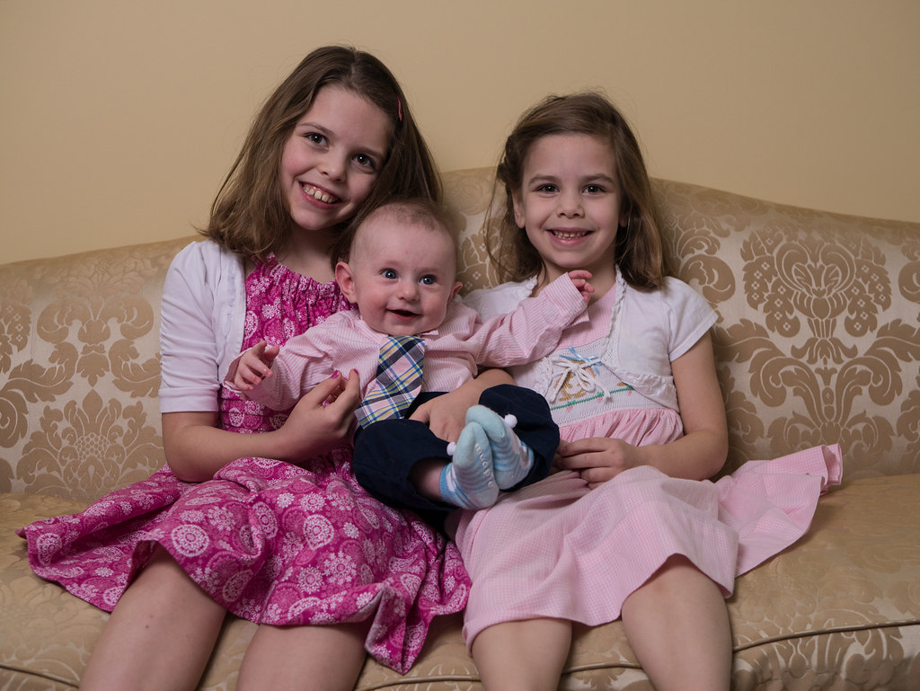 Portrait with their littlest cousin