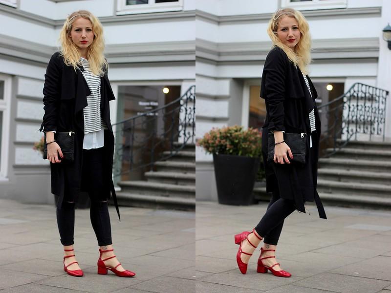 Rote Schuhe und Streifen1