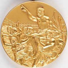 Los Angeles 1984 Summer Olympics Gold Winner's Medal obverse