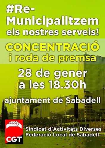 Concentració municipalització serveis públics a Sabadell