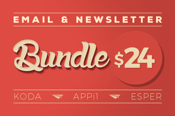 Creativemarket Email & Newsletter Bundle #1