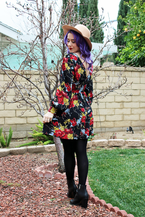 Trashy Diva Bianca Dress in Forget Me Not Floral Print Rockabilly Baby Polly Dress in Forget Me Not Floral Print