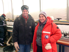 Lead Driller Jay Johnson and NSF Antarctic Glaciology Program Director Dr. Julie Palais