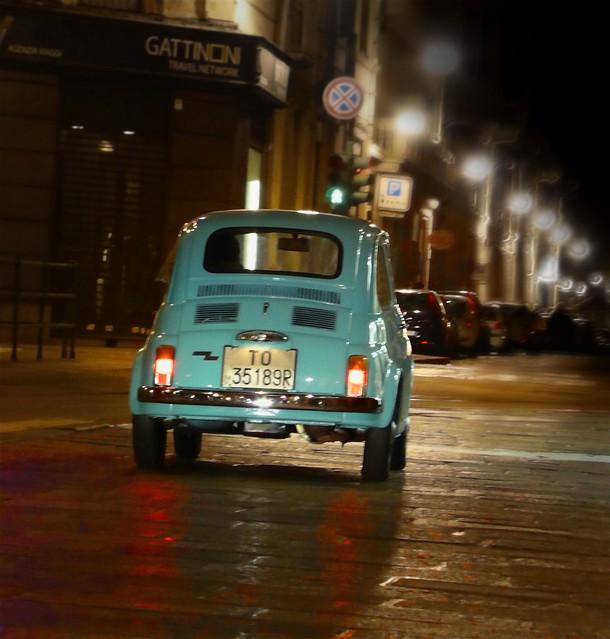 Vintage car (Fiat 500)