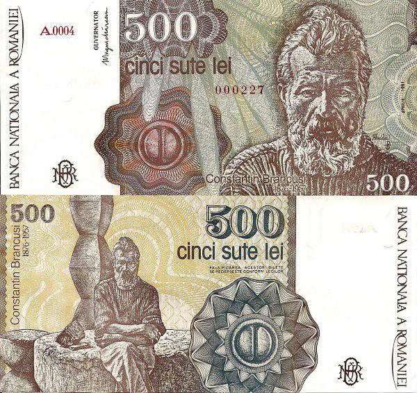 500 Lei Rumunsko 1991 Pick 98b