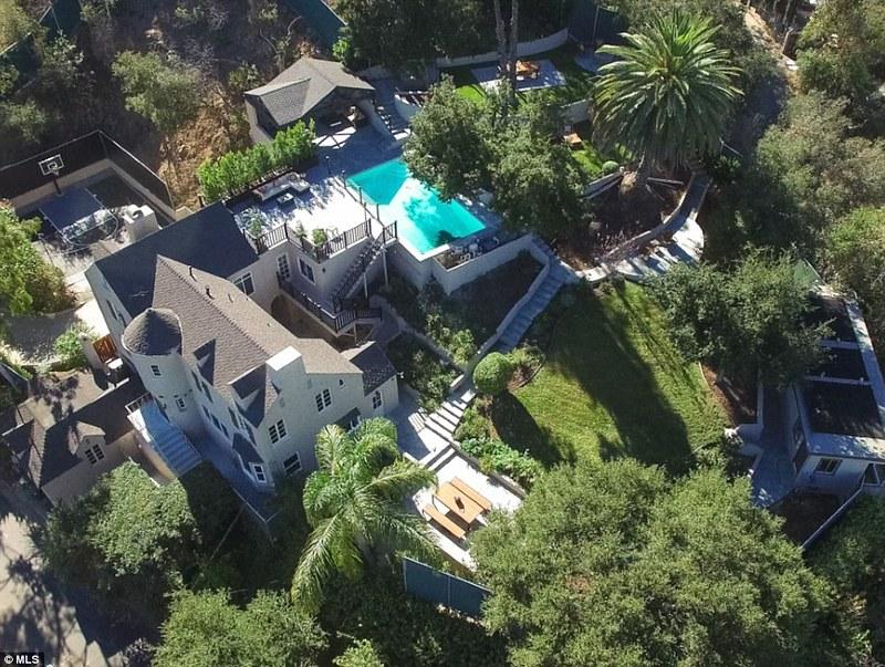 Вид на дом Керри Вашингтон с высоты