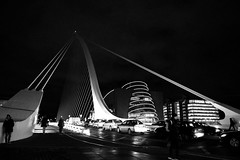 Dublin's Samuel Beckett Bridge... an icon, in B&W