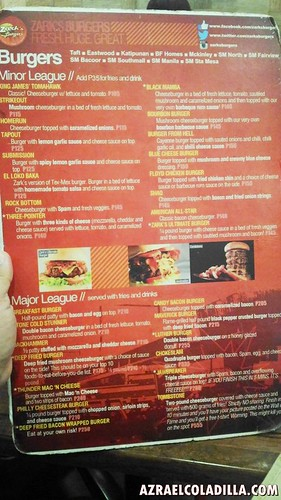 Zark's Burgers in Cavite
