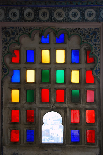 Colourful Stained Glass Windows Brighten Up Udaipur Palace in India