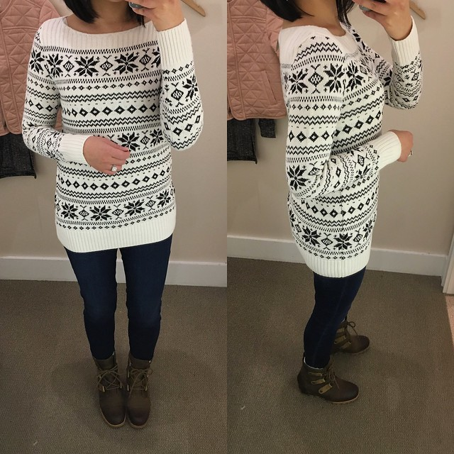 LOFT Sequin Snowflake Sweater