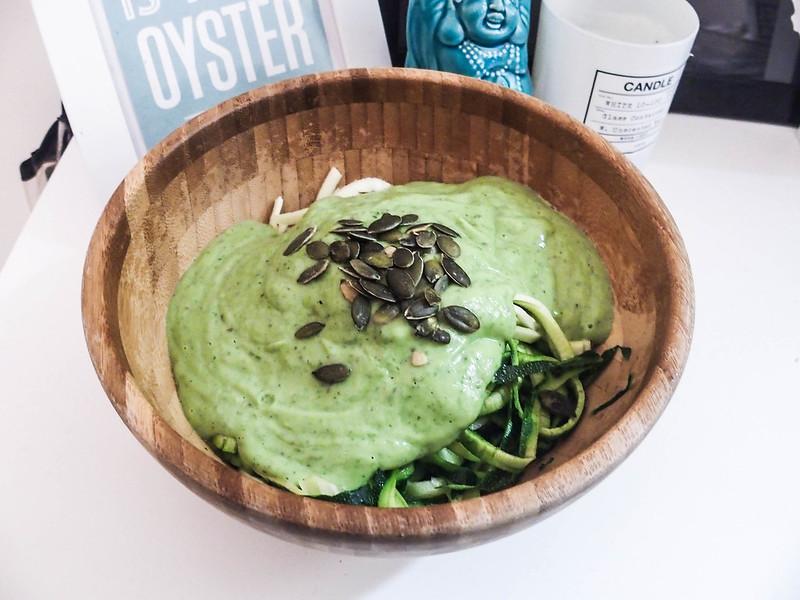 raw vegan avocado sauce