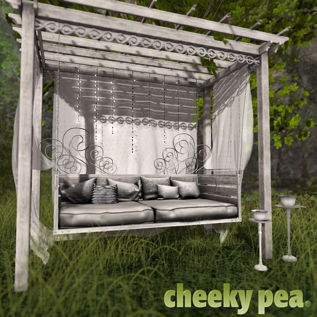 Fanciful Daybed Pergola for Whimsical