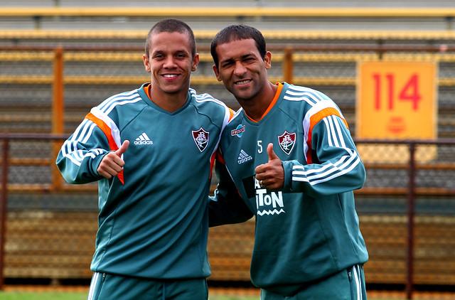 Fluminense faz treino no estádio que será palco do confronto com o Inter