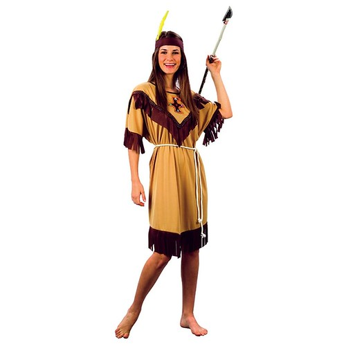 Plus Size Ladies Indian Lady Costume - Adult Womens Halloween Fancy Dress Outfit