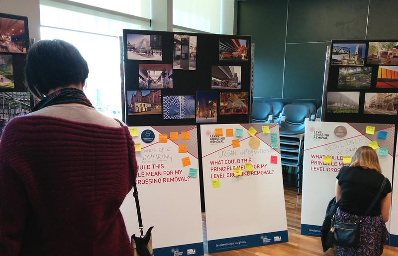 Level crossing consultation session, Carnegie, August 2015