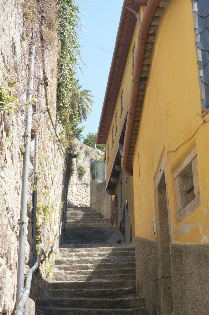 Narrow Stairway in Porto