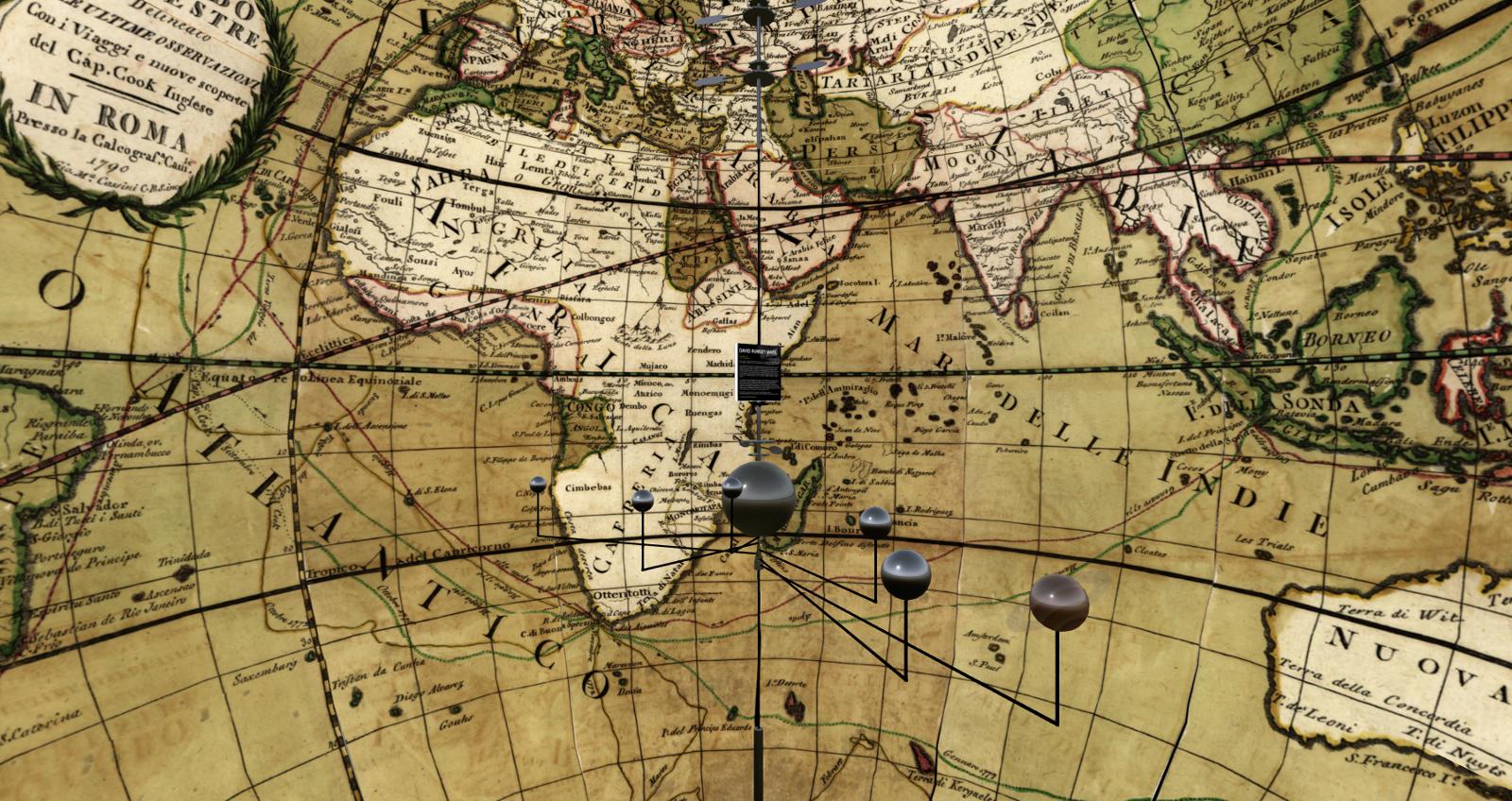 Inside the earth globe