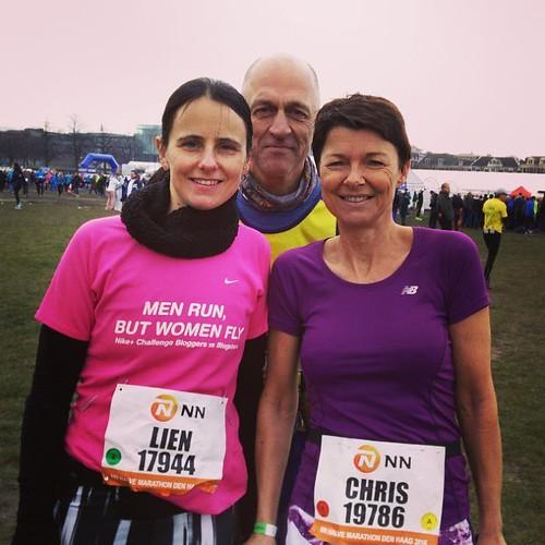 Halve marathon gelopen met buikgriep. Ook eens meegemaakt. Met @chris_rogghe en Gert! #running #cpcdenhaag #runstagram