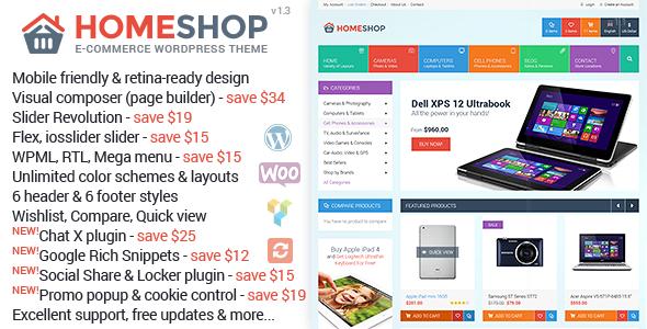 Home Shop v1.4.3 - WooCommerce Theme