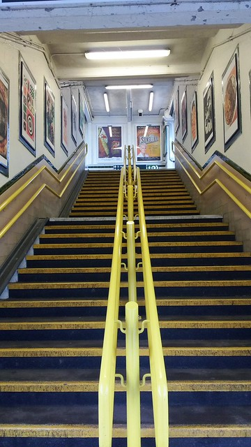 Stairs up from the platform