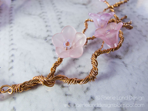 "Collana in Wire ""Cherry Blossom"""