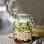 gorgonzolás csicseriborsó-saláta