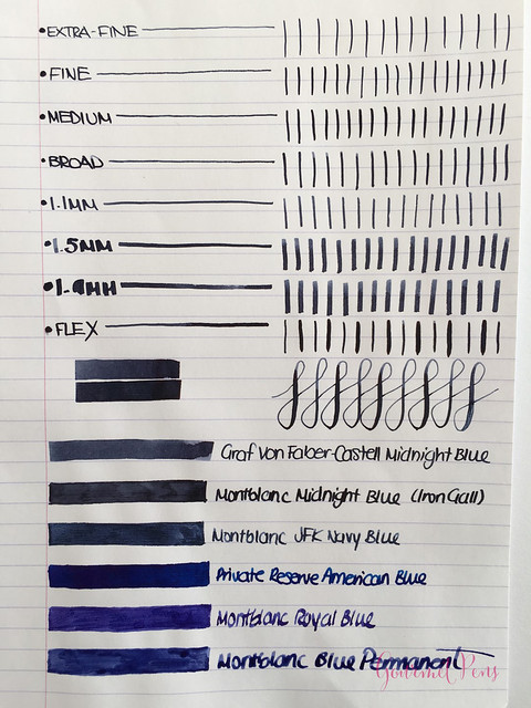 Ink Shot Review Graf Von Faber-Castell Midnight Blue @AppelboomLaren (5)