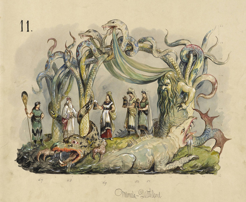 Carlotta Bonnecaze - Manala-Deathland, float design from Krewe of Proteus, 1893