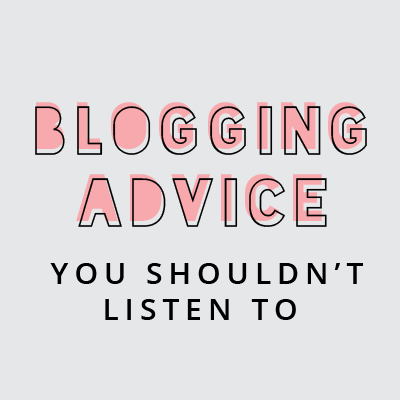 Blogging tips: bad advice