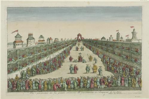Vue perspective de la grande Ceremonie du Couronnement de l'Empereur de la Chine, 1770
