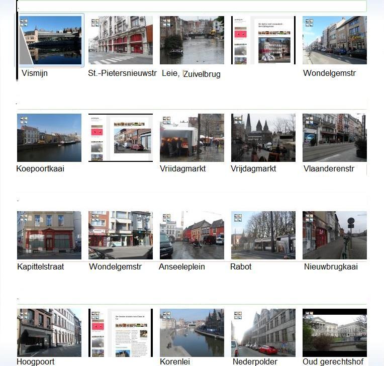 Gent stadszichten vid