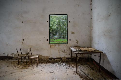 Mesa, sillas y ventana