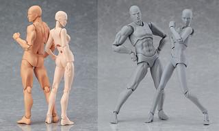 可動玩具figma 次世代素體系列:figma archetype next:he & she 雙色登場!