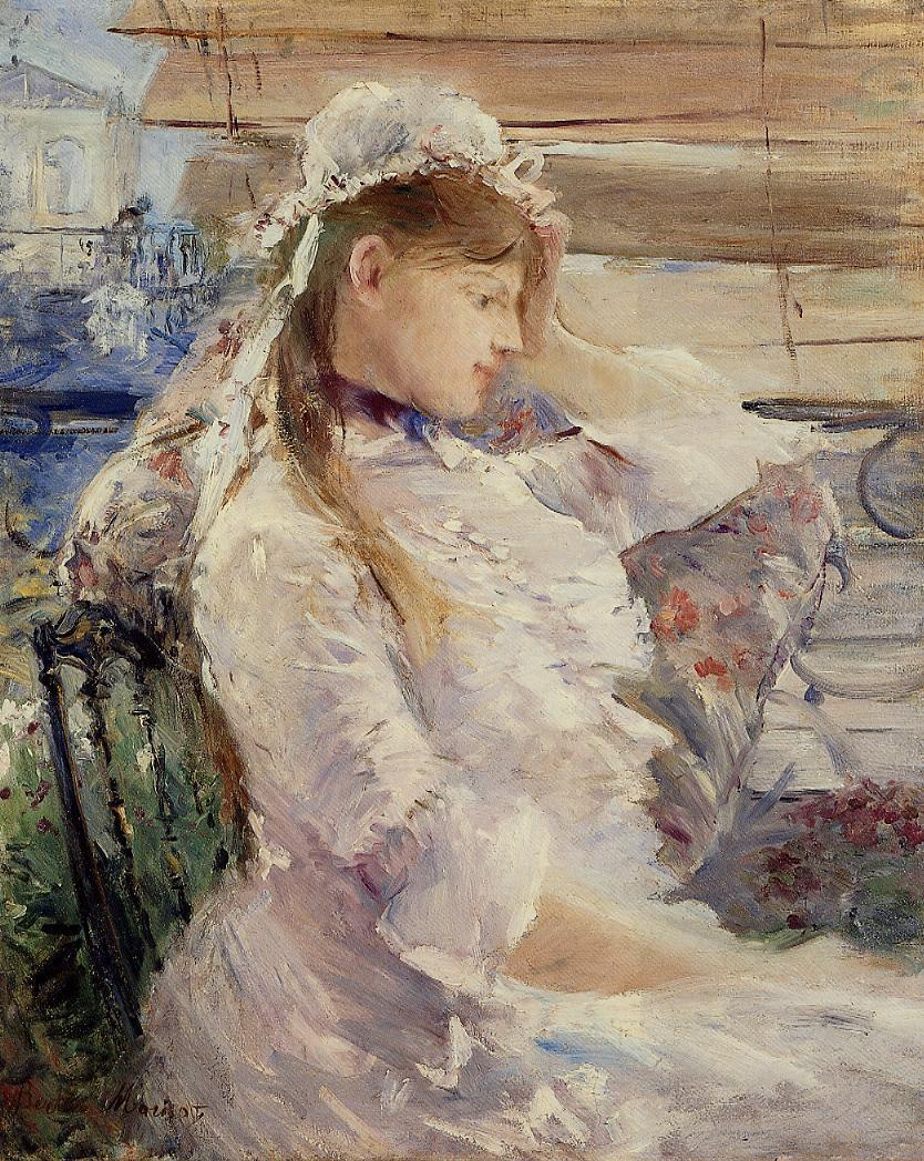 Behind the Blinds by Berthe Morisot, 1879