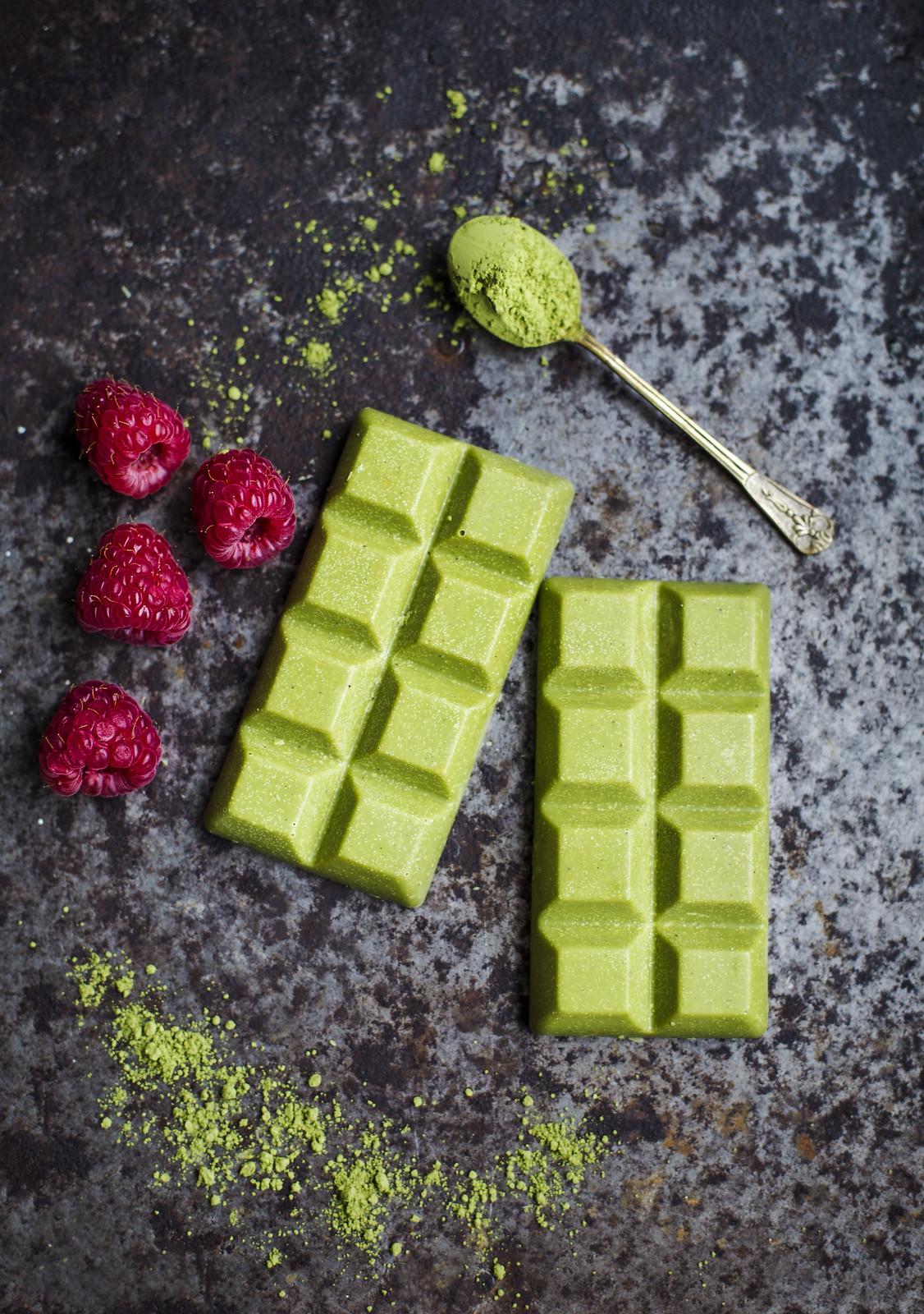 Vit Choklad med Matcha-Te & Citron - Evelinas Ekologiska