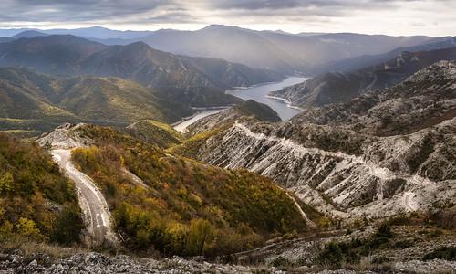 mountain lake landscape macedonia mountainside roads ridges lakescape lakekozjak