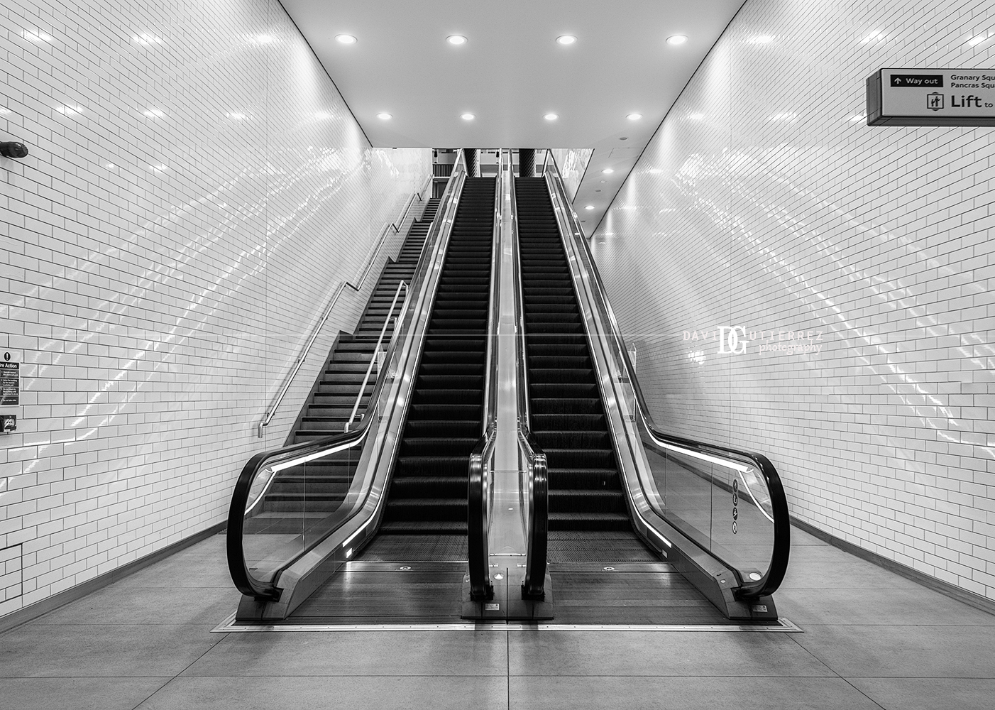 """Escalation II"" King's Cross St. Pancras Station, London, United Kingdom by David Gutierrez Photography, London Photographer"