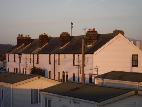 listed Coastguard Cottages, Canvey Island
