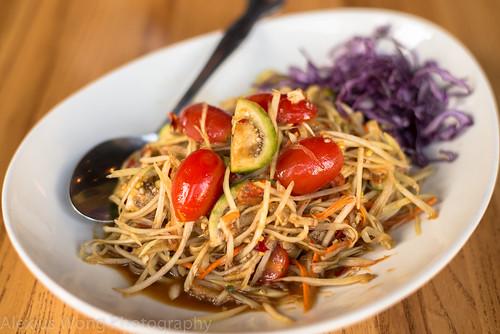 Tam Muk Huong/Laotian Papaya Salad