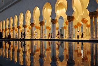Image of Sheikh Zayed Grand Mosque near Abu Dhabi. colour