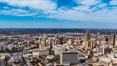 Looking west over San Antonio, Texas from the Tower of the Americas