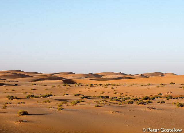 Sand dunes in UAE