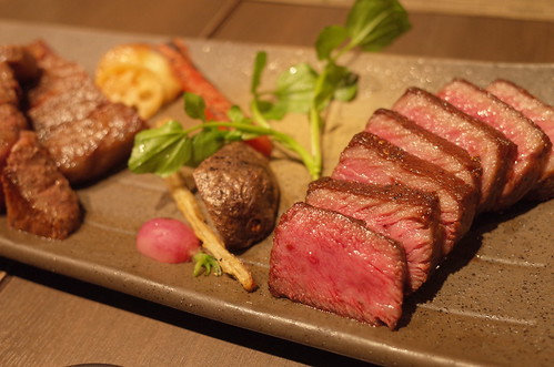 3 kinds of beef steak