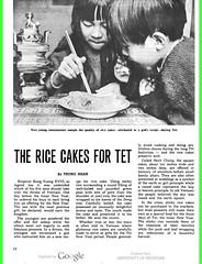 VIETNAM Bulletin JANUARY 30, 1972 (3) - THE RICE CAKES FOR TET