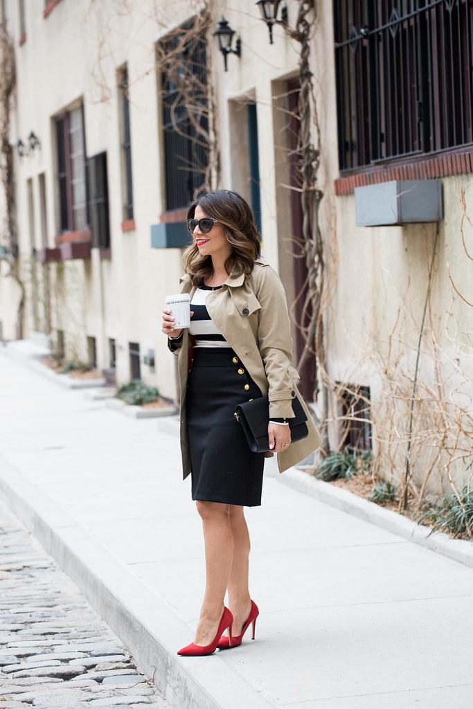 Black and white stripes_Ann Taylor Skirt_6