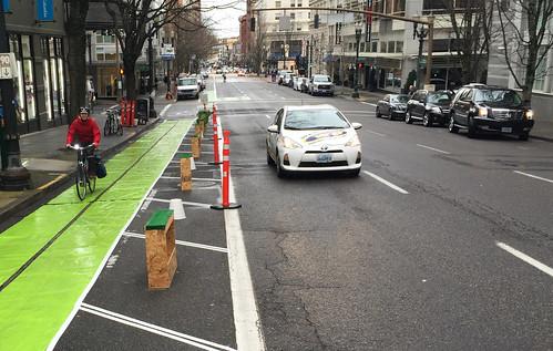 Pop-up bikeway on SW Broadway-10.jpg
