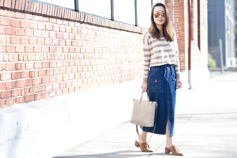 01madewell-denim-skirt-stripes-sweater-suede-mules